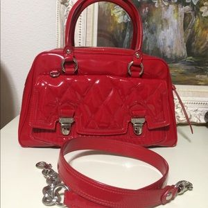 Authentic patent leather quilted Coach purse